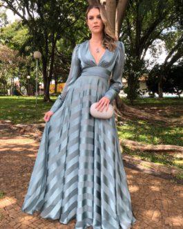 Vestido de festa longo, manga longa, para madrinhas, formandas, convidadas, mães