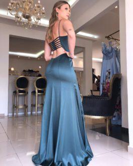 Vestido de festa longo, sereia costas tiras, para convidadas, madrinhas, formandas