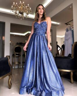 Vestido de festa longo, cinderela, para formandas, debutantes