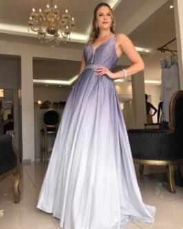 Vestido de festa longo, princesa, para formandas e debutantes