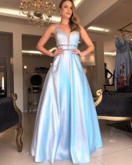 Vestido de festa longo, princesa, para debutantes, formandas