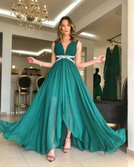 Vestido de festa longo, estilo grego, para madrinhas, formandas, mãe de noivo (a)