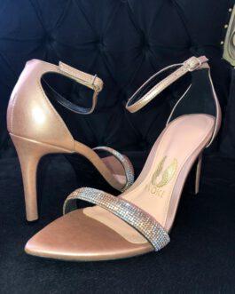 Sandália Ouro Rose Bico Folha