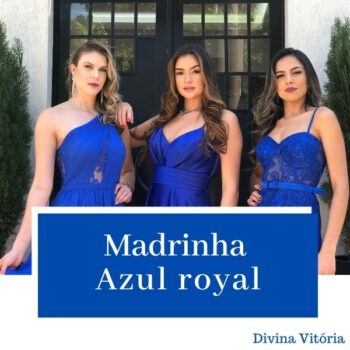 Madrinha de azul royal