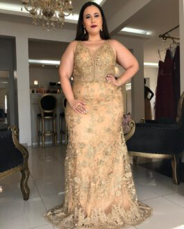 Vestido de festa longo, inteiro bordado, para madrinhas, formandas, mãe de noiva(o)